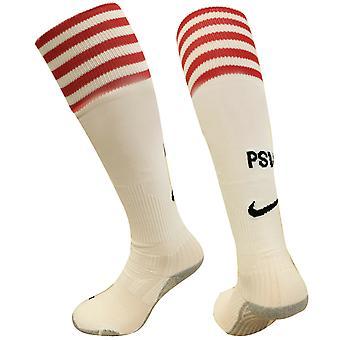 نايكي PSV ايندهوفن الأبيض مخطط لكرة القدم الجوارب الحمراء الرمادية البيضاء 242464 106 A37A
