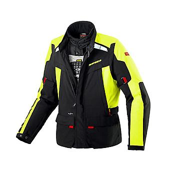 Spidi Super Hydro H2Out Waterproof Motorcycle Textile Jacket Hi-Viz Yellow L