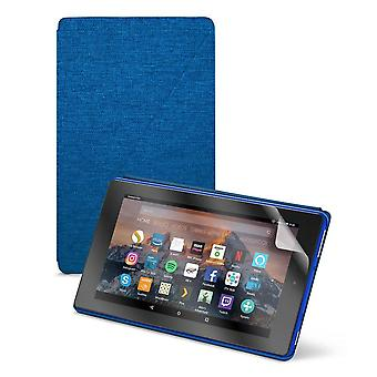"Fire hd 8 essentials bundle including fire hd 8 tablet with alexa, 8"" display, 32 gb, blue - with sp"