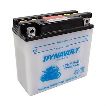 Dynavolt 12N554B Conventional Dry Charge Battery With Acid Pack