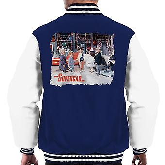 Supercar Birthday In Black Rock Men's Varsity Jacket