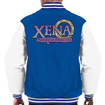 Xena Warrior Princess Lila Lutning Logo Män's Varsity Jacket
