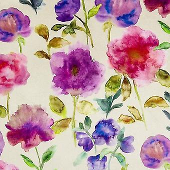 Mcalister Textilien Renoir floral violett lila samt Stoff Probe