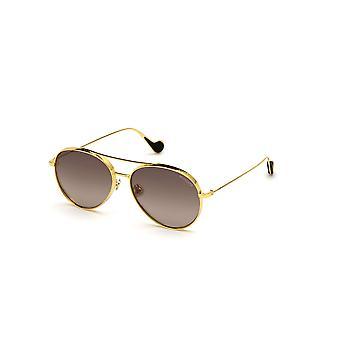 Moncler ML 0121 Gafas de sol brillantes endura doradas/azules de 30V