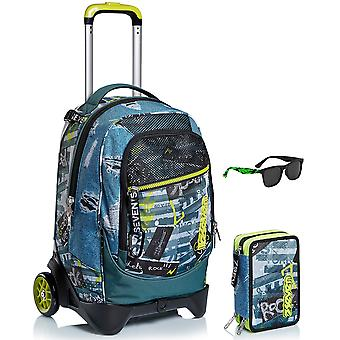 كيت المدرسة - عربة جاك 2WD سبعة + حالة + نظارات شمسية - الحضرية روك