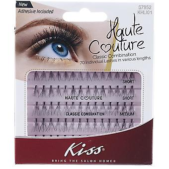 Kiss Haute Couture Individual Lashes - Classic Combination - 70 Clusters