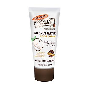 Palmers coconut oil water foot cream 60 g of cream