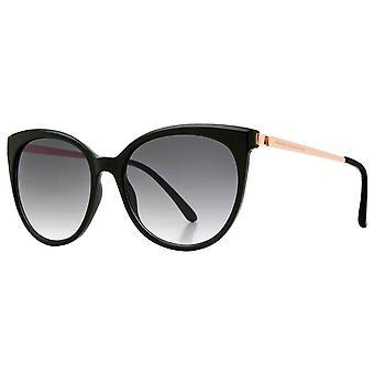 Franse Verbinding Oversized Cat Eye Glam Zonnebril - Zwart