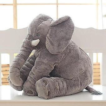 60cm Gray Elephant Design, Plush, Stuffed And Soft Pillow For Babies