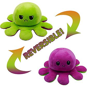 Octopus Design, Reversible Plush And Stuffed Doll Toy