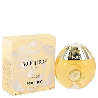Boucheron Eau Legere Eau De Toilette Spray (Botella Amarilla, Bergamota, Genet, Narcisse, Musc) Por Boucheron 3.3 oz Eau De Toilette Spray