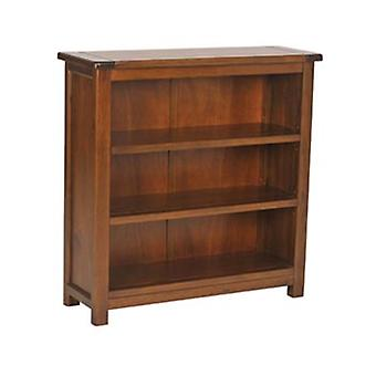 Bermont Dark Antiqued Softwood 3 Shelf Low Bookcase
