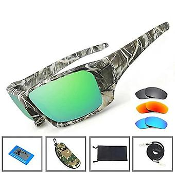 Polarized Uv Lens Camouflage Frame, Men & Women Sport Sun Glasses