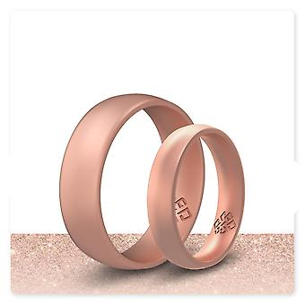 Rose Gold Breathable Silicone Ring