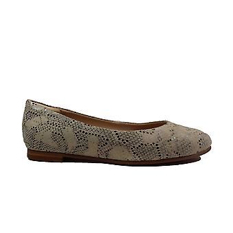 Clarks Grace Piper Taupe Snake Leather Womens Slip On Shoes