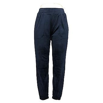 Carole Hochman Women's Petite Pants Stretch Velour Jogger Blue A381874