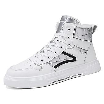 Winter Men Shoes, High-top Walking, Canvas Shoe, Height Increasing, Non-leather