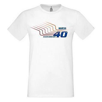 Heren T-Shirt met korte mouwen Sparco Wit