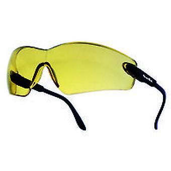 Bolle VIPPSJ Viper silmälasit musta nailon runko keltainen Scratch/sumu linssin