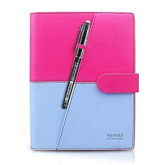 Pink- blue erasable notebook paper reusable smart wirebound notebook cloud storage flash storage app connection