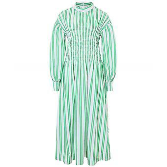 Ganni Stripe Cotton Smock Dress