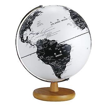 Globo Terráqueo Mapa Tierra Globo Vintage Adornos de Madera Usb Glow Globe
