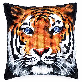 Vervaco Cross Stitch Kit: Coussin: Tiger