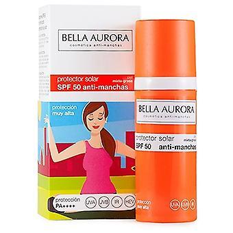 SPF 50 Anti-Stain SunScreen. Mixed-Fat Skin.- Bella Aurora 50 ml