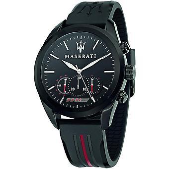 Maserati R8871612004 Men's Traguardo Chronograph Black Strap Wristwatch