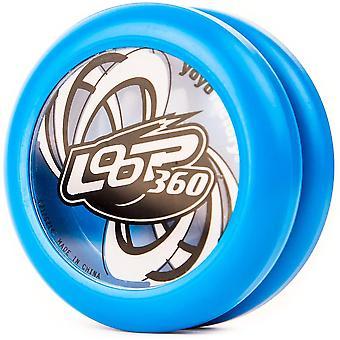 FengChun YoyoFactory Loop 360 Yo-Yo - BLAU (Ideal fr Anfnger, Moderne Leistung Yoyo, Metall