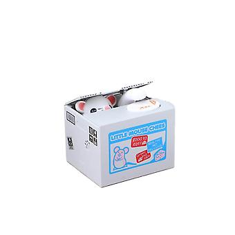 Money Banks Stealing Coin Money Bank Electronic Money Box Saving Coin Penny Box Holds 40 Coins Saving Box 12x9x10cm (mouse)