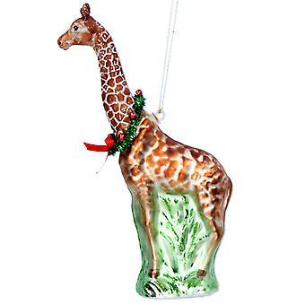 Gisela Graham Glass Giraffe Hanging Dec