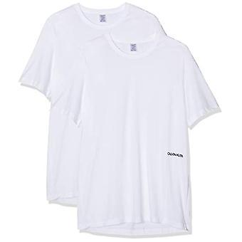 Calvin Klein S/S Crew Neck 2PK T-Shirt, White (White 100), XS Woman