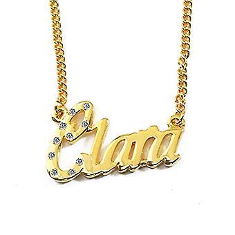 """L Clara - 18-karat forgyldt halskæde, justerbar kæde af 16 """"- 19"""", i regal emballage"""