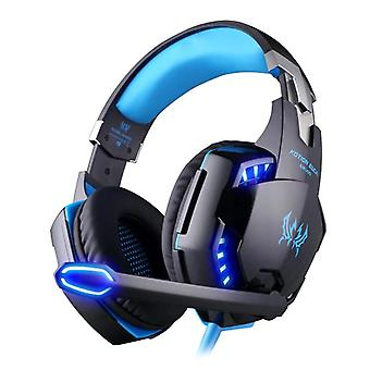 Gaming Headset Deep Bass Stereo Game Headphone with Microphone LED Light for PS4 Laptop PC Gamer