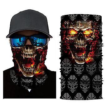 3D tištěný opalovací klaun lebka venkovní sportovní cyklistická maska šátek rybářské vybavení