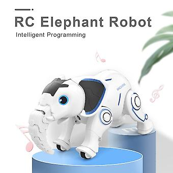 K17 Wireless Elephant Dance Tell Story Interactive Toy for Kids Gift Early Education RC Robot(White)