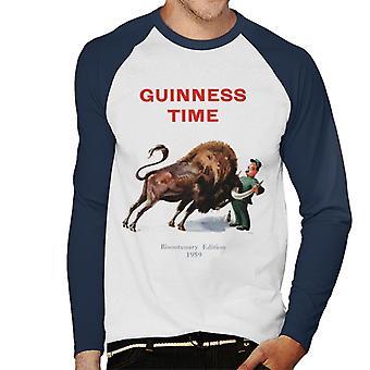 Guinness Time Bisontenary Edition Men's Baseball Long Sleeved T-Shirt