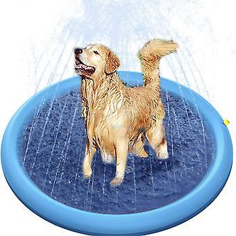 水スプレーパッド夏の遊び冷却マットスイミングプールインフレータブルパッドマットペットドッグタブ