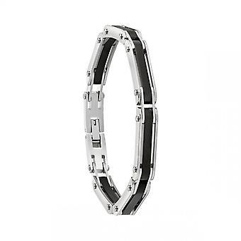 Bracelet Homme Jourdan JH110011B - EL CASTILLO - Acier Argent