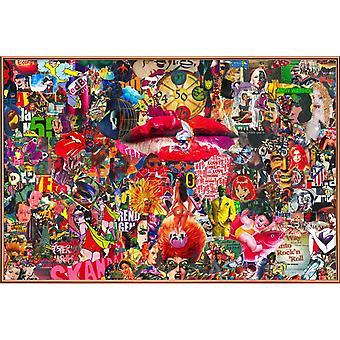 JUNIQE Print - Kyss, 2010 - Pop Art Poster i färgglada