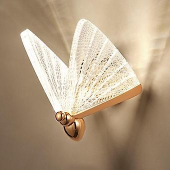 5W LED Butterfly Wall Lamp Nordic Modern Minimalist Luxury Staircase Bedside Bedroom Background