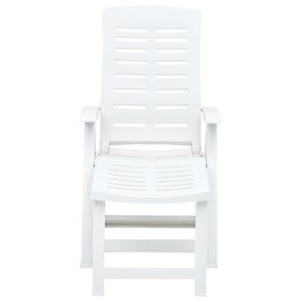 vidaXL Taittuva sohva Muovi Valkoinen