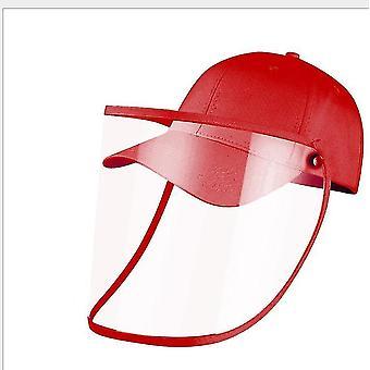 28Cm * 25 سم * 1 سم أحمر كامل الوجه قبعة البيسبول مع غطاء الوجه القابلة للإزالة x3741