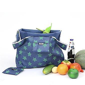 Uusi kannettava ostoskassi taitettava 190t Oxford Cloth Printing Starry Household Grocery Bag ES9202