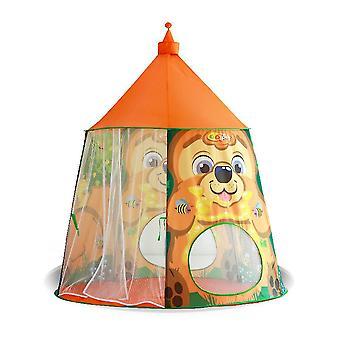 キッズプレイテント屋内オーシャンボールプールプリンセスルームフクロウ城おもちゃキッズテントハウスオレンジ