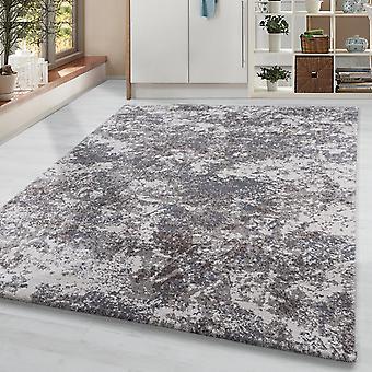 Pile corta soggiorno tappeto tappeto tappeto vintage macchie motivo grigio crema beige