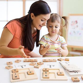 Intelligence Bamboo Counting Sticks, Clock Toy, Mathematics Montessori Teaching
