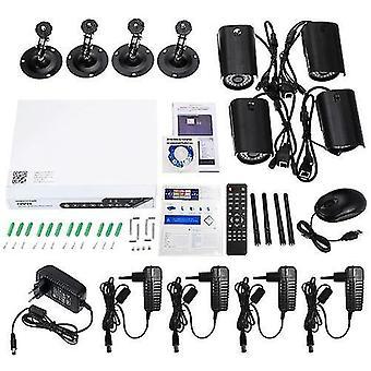 szsinocam 4CH HD 720P H.264 Zestaw NVR z 4-szkowym systemem bezpieczeństwa kamer ip 36IR