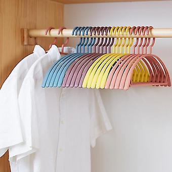 10 pcs Plastic Hanger Household Semicircle Seamless Plastic Hanger Household Non-Slip Hanger Bold